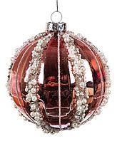 Стеклянный елочный шар  8см. , фото 1