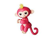 Ручная обезьянка на бат. Happy Monkey интерактивная (розовый), фото 1