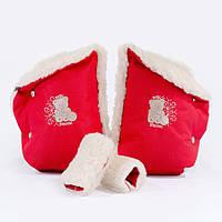 Рукавички c прихватками Baby Breeze красный 0318-402