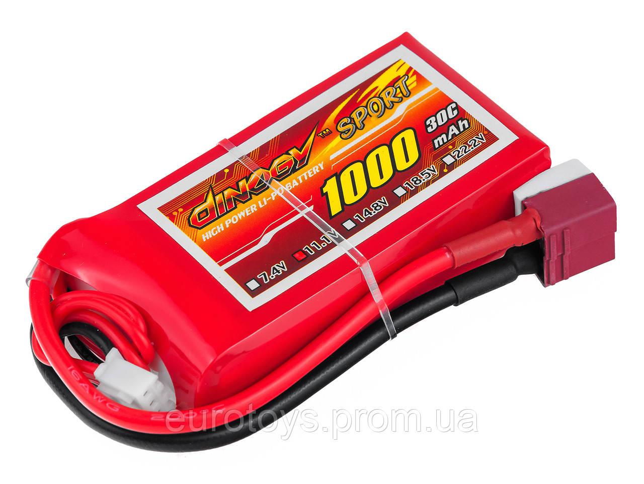 Аккумулятор для радиоуправляемой модели Dinogy Li-Pol 1000 мАч 11.1 В 68x35x18 мм T-Plug 30C