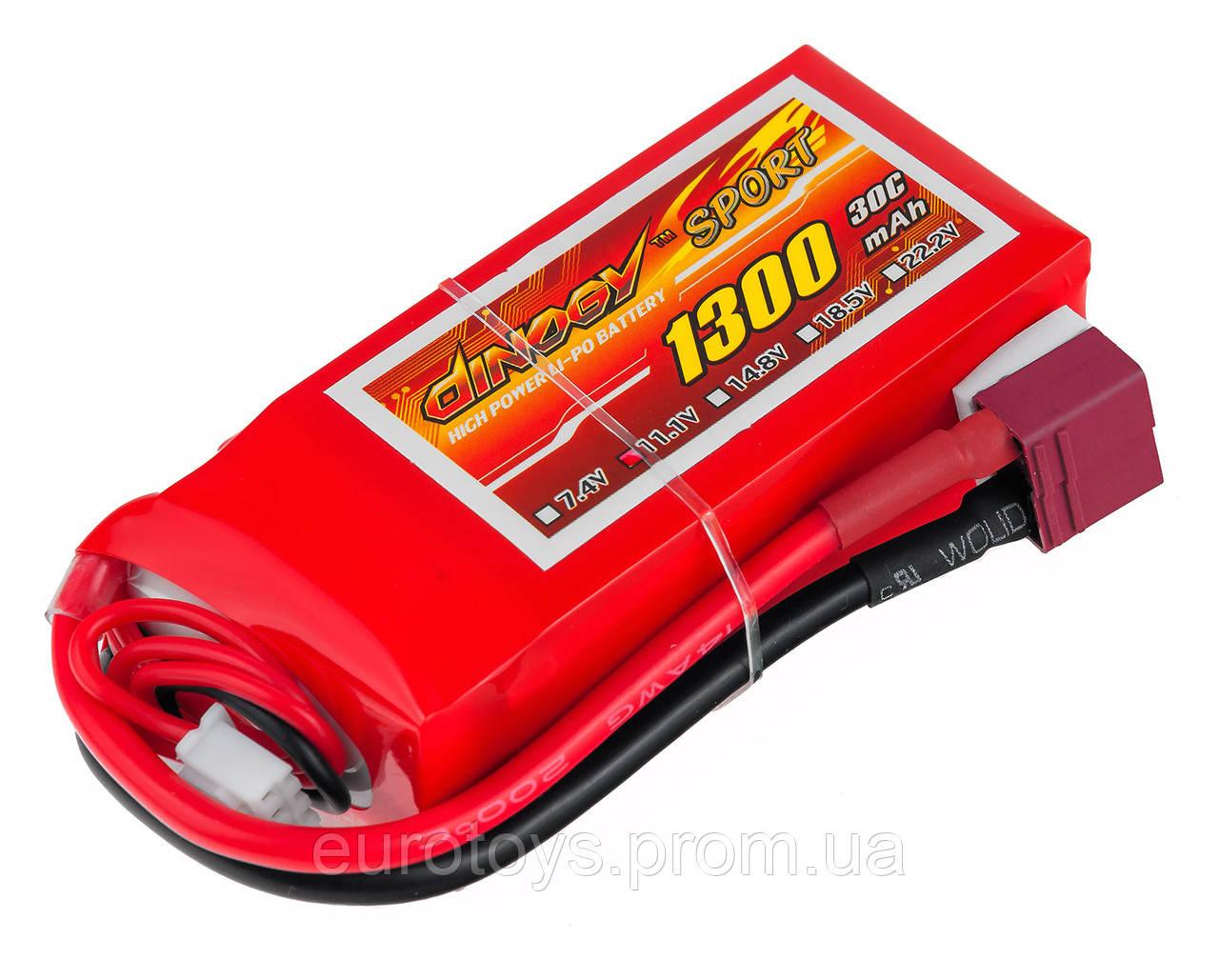 Аккумулятор для радиоуправляемой модели Dinogy Li-Pol 1300 мАч 11.1 В 75x35x22 мм T-Plug 30C