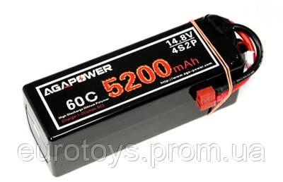 Аккумулятор AGA POWER Li-Pol 5200mAh 14.8V 4S1P 60C Hardcase 48x47x138мм T-Plug
