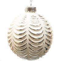 Стеклянный шар на новогоднюю елку  8см. (продажа от 3шт.) , фото 1