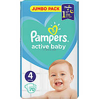 3f85dcb038a8 Подгузник Pampers Active Baby Maxi Размер 4 (9-14 кг), 70 шт