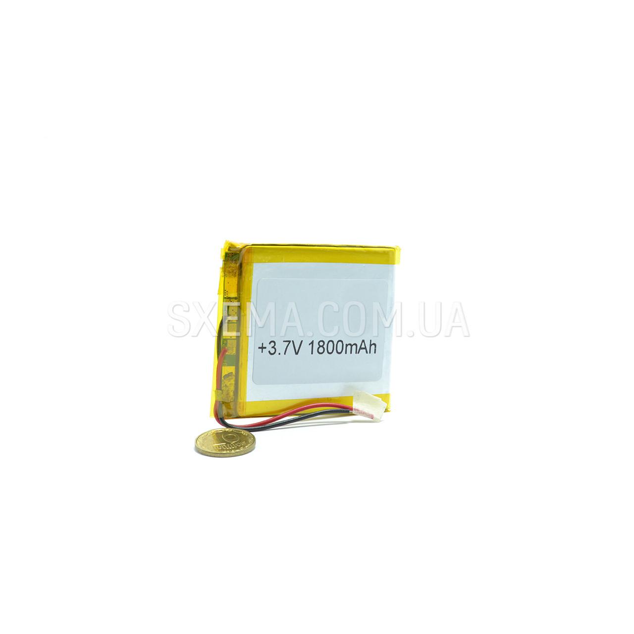 Акумулятор універсальний 044555 (Li-ion 3.7 В 1800мА·год), (55*45*4 мм)