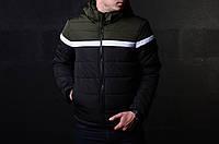 Мужская Демисезонная куртка хаки\черная XL ( Холодная Осень-Весна) От Батерсона Отличное Качества, фото 1