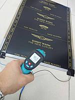 Инфракрасная  термопленка ( сплошная ) 0.50 х 1.75  готовый комплект с проводами и вилкой., фото 1
