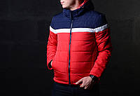 Мужская демисезонная куртка синий с красным, фото 1
