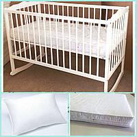 Кроватка детская +матрас+подушка.