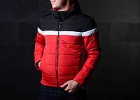 Мужская Демисезонная куртка Черный\Красная S ( Холодная Осень-Весна) От Батерсона Отличное Качества, фото 1