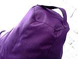 Бескаркасное Кресло мешок груша пуфик фиолетовый XL (120х75) оксфорд 600 , фото 2