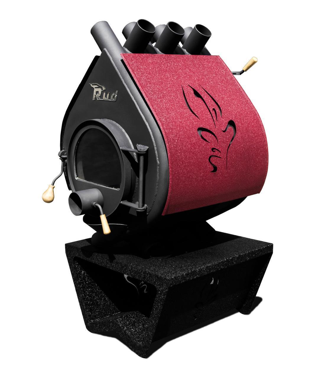 Отопительная конвекционная печь Rud Pyrotron Кантри 01 (для помещения 80 кв.м.) со стеклом и обшивкой