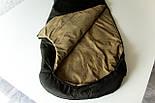 Спальный мешок кокон (микрофибра, до -15) спальник туристический для похода, для холодной погоды!, фото 2