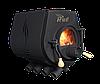 Отопительная конвекционная печь Rud Pyrotron Кантри 00 с варочной поверхностью (для помещения 40 кв.м.)  Стекло в дверце печи.Бесплатная доставка.
