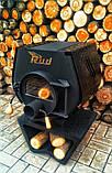Отопительная конвекционная печь Rud Pyrotron Кантри 01 с варочной поверхностью (для помещения 80 кв.м.), фото 4