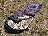 Спальный мешок на флисе,  мех, спальник туристический для похода, для холодной погоды!, фото 5