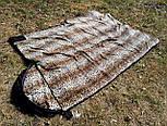 Спальный мешок на флисе,  мех, спальник туристический для похода, для холодной погоды!, фото 7