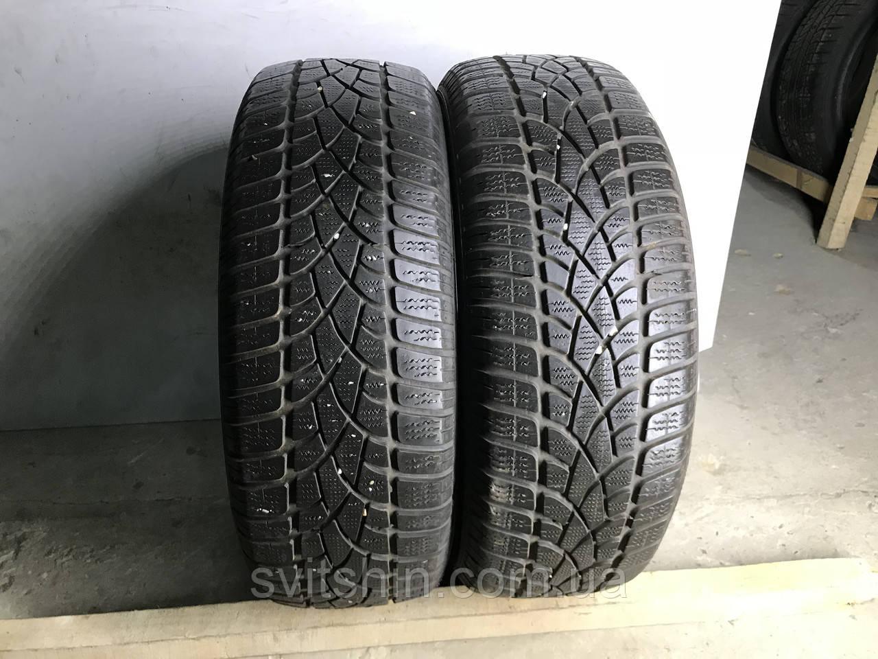 Шины бу зима 205/60R16 Dunlop SP Winter Sport 3D (2шт) 6мм