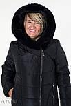 Зимнее женское пальто куртка удлиненное, фото 2