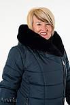 Зимнее женское пальто куртка удлиненное, фото 5