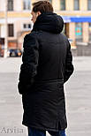 Зимняя мужская парка куртка (длинная на меху (овчина)), фото 2