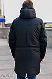 Зимняя мужская парка куртка (длинная на меху (овчина)), фото 7