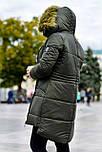 Женская парка куртка на меху (зимняя), фото 3