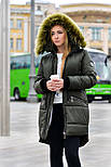 Женская парка куртка на меху (зимняя), фото 6