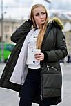 Женская парка куртка на меху (зимняя), фото 8