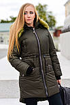 Женская парка куртка на меху (зимняя), фото 9