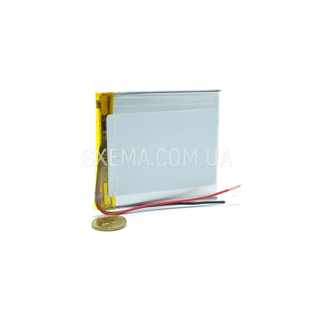 Аккумулятор универсальный 046365 (Li-ion 3.7В 2300мА·ч), (65*63*4 мм)