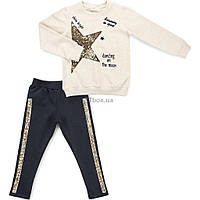 Набор детской одежды Breeze со звездой и лампасами (11003-116G-beige)