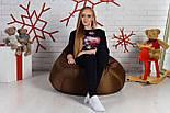 Бескаркасное Кресло мешок груша пуфик XL oxford, фото 7