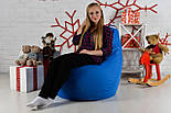 Бескаркасное Кресло мешок груша пуфик XL oxford синий, фото 4