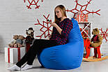 Бескаркасное Кресло мешок груша пуфик XL oxford синий, фото 6