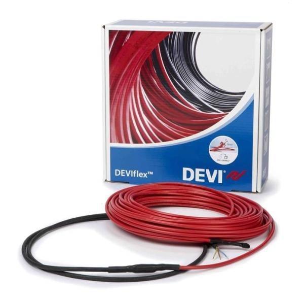 Двужильный экранированный нагревательный DEVIflex 18T  теплый пол кабель ( 8.2 м.кв ) 1485 вт