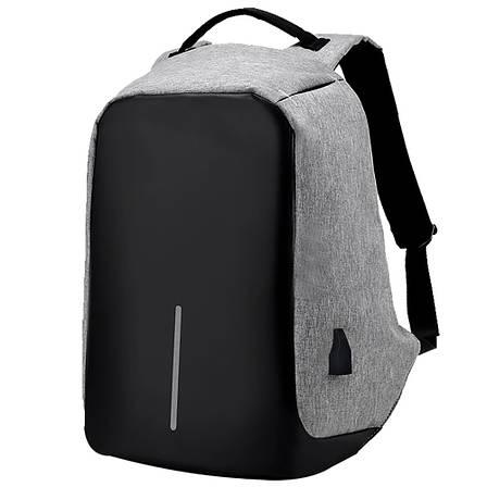 Рюкзак Bobby антивор для ноутбука. Портфель городской  СЕРЫЙ, фото 2