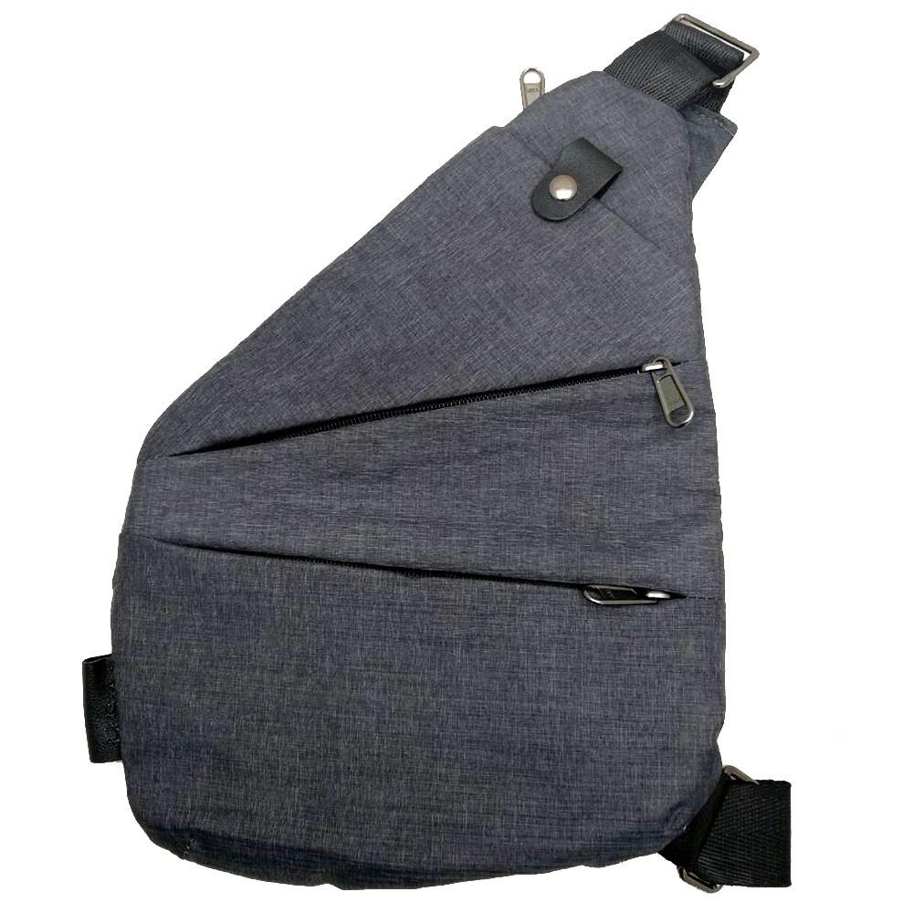 Сумка рюкзак через плечо мессенджер Cross Body Bags 6016 - СЕРАЯ