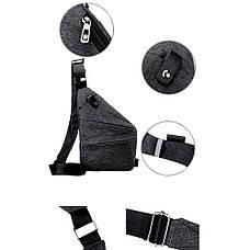 Сумка рюкзак через плечо мессенджер Cross Body Bags 6016 - СЕРАЯ, фото 3