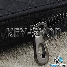 Ключниця кишенькова (шкіряна, чорна, на блискавці, з карабіном), логотип авто Mercedes (Мерседес), фото 2