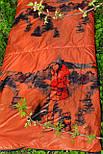 Тактический спальный мешок (до -4) спальник+компресионник для похода весна и осень, фото 4