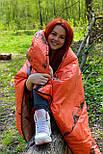 Тактический спальный мешок (до -4) спальник+компресионник для похода весна и осень, фото 9