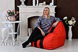 Бескаркасное кресло мешок диван Ferrari, Феррари, фото 4