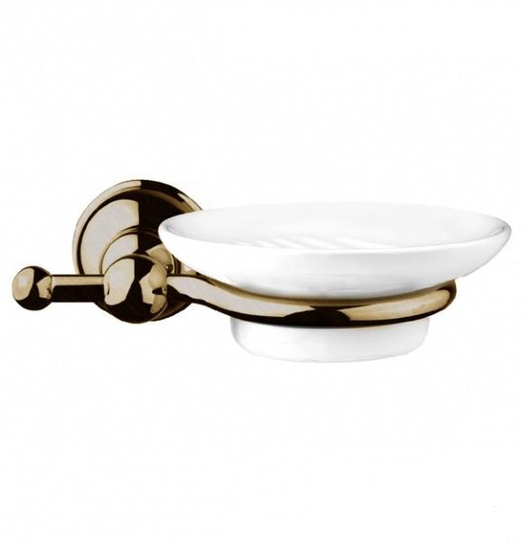 Настенная мыльница Gessi Natura 4779-140 бронза, белая керамика