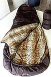 Спальный мешок кокон (флис, до -15) спальник туристический для похода, для холодной погоды!, фото 3