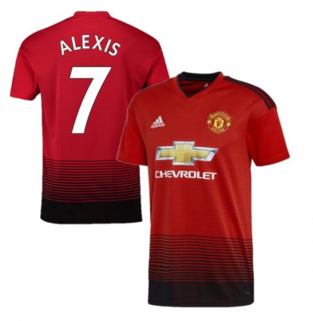 Футбольная форма детская Манчестер Юнайтед красная Alexis (Алексис) (сезон 2018-2019)