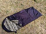 Армейский спальный мешок (до -20) спальник туристический для похода, для холодной погоды!, фото 5