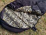 Армейский спальный мешок (до -20) спальник туристический для похода, для холодной погоды!, фото 6