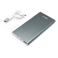 Внешний аккумулятор повер банк (Power Bank) GOLF EDGE5 5000mAh Grey
