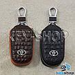 Ключниця кишенькова (шкіряна, чорна, з тисненням, на блискавці, з карабіном), логотип авто Toyota (Тойота), фото 2
